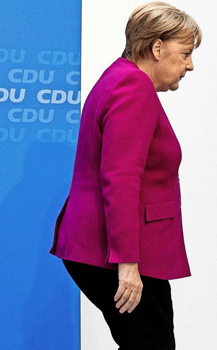 Angela Merkel denkt nicht daran, zurückzutreten.  | Foto:  DPA