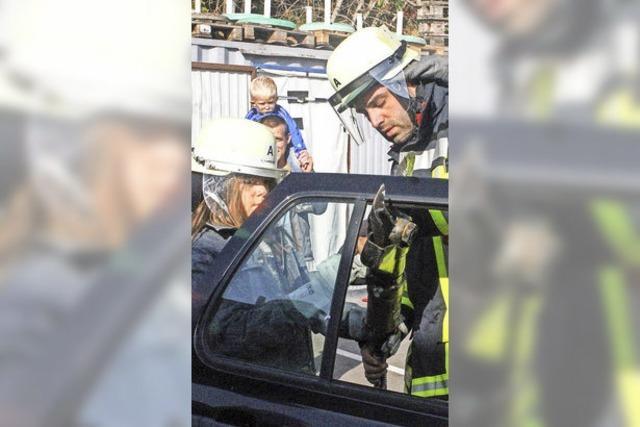 Feuerwehr Murg übt den Ernstfall