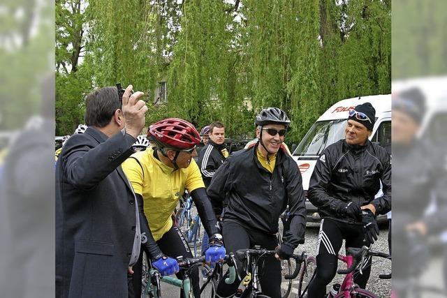 Einmal mit Radprofis an den Start