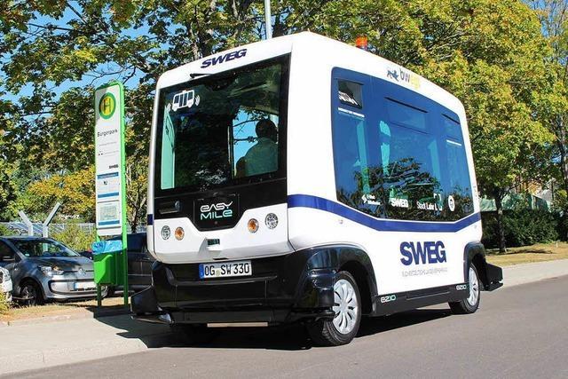 Mehr als 4000 Gäste fahren in Lahr mit dem autonomen Bus