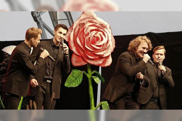 Blumenbotschafter auf der Bühne