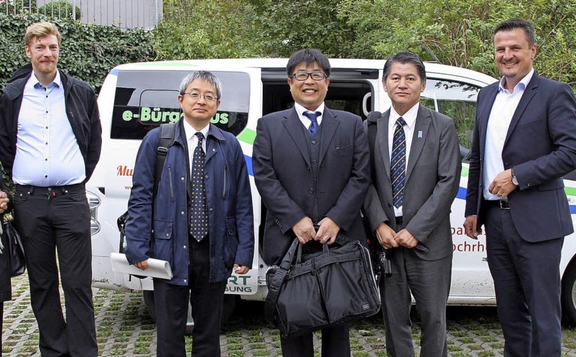 Japan zu Gast in Murg (von links):  Kl...i  und Bürgermeister Adrian Schmidle    | Foto: Charlotte Fröse