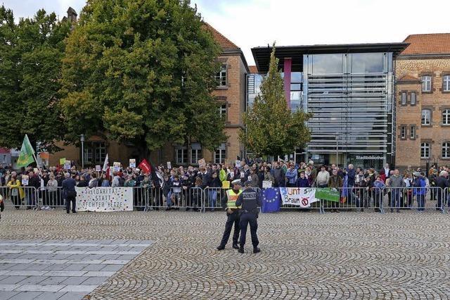 Demonstration gegen AfD-OB-Wahlkampf