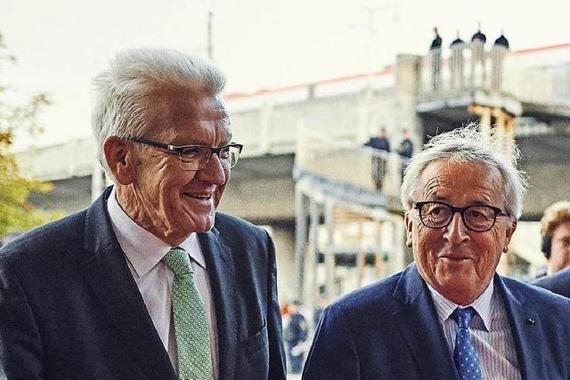 So haben Juncker und Kretschmann mit Freiburgern über Europa diskutiert
