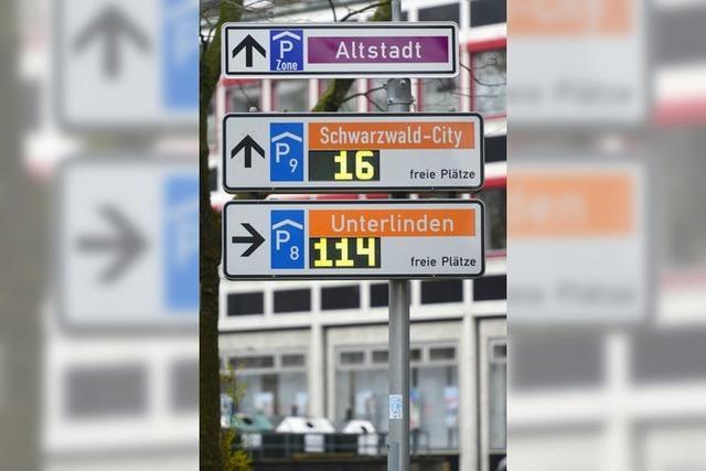 Parkleitsystem in Freiburgs Zentrum außer Gefecht – auch am Mega-Samstag