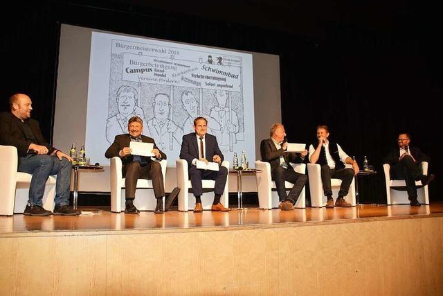 So war der BZ-Kandidatentalk zur Schopfheimer Bürgermeisterwahl