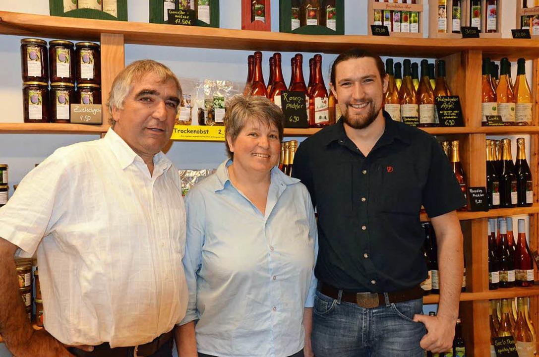 Martin, Susanne und Johannes Geng  | Foto: Gabriele Hennicke