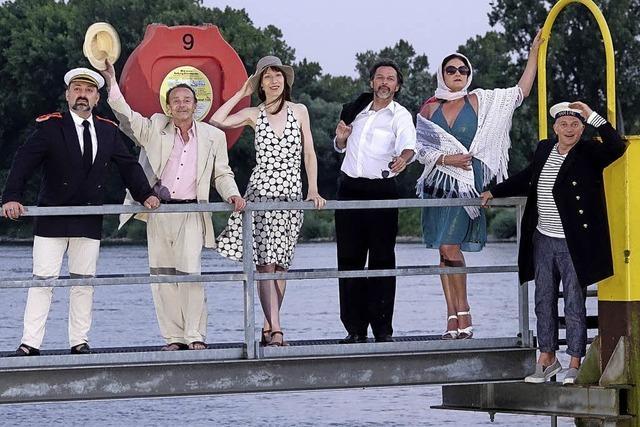Eine multimediale Rhein und Hafen Revue in der Alten Rösterei im Kehler Hafen