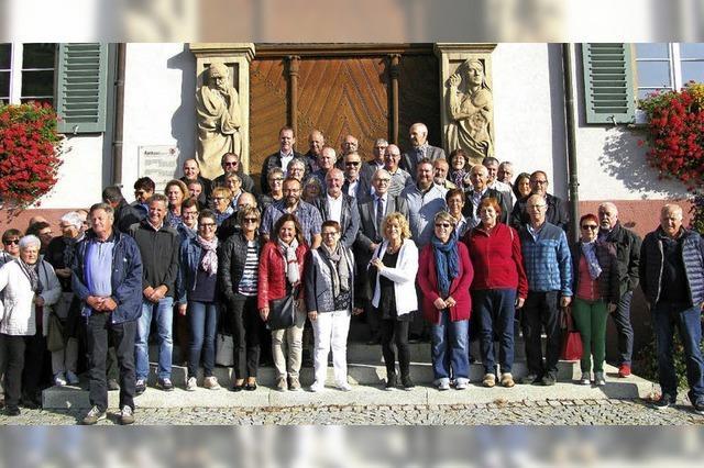 Elsässer Maires zum Gedankenaustausch in Baden