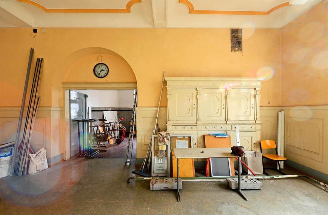 Der Speisesaal im leerstehenden Westflügel.  | Foto: Ingo Schneider