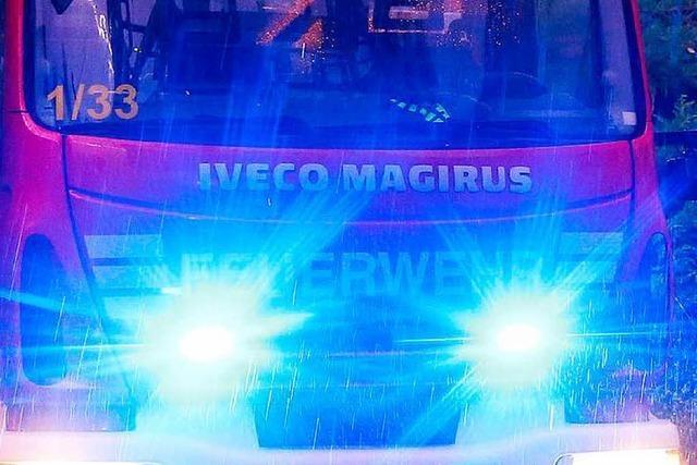 Wäschetrockner gerät in Murg in Brand