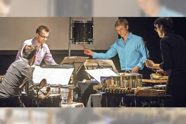 Black Forrest Percussion Group gastiert am Samstag, 6. Oktober, in der Stadtscheuer in Waldshut