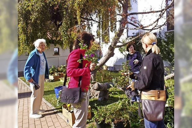 Besucher zeigen den grünen Daumen