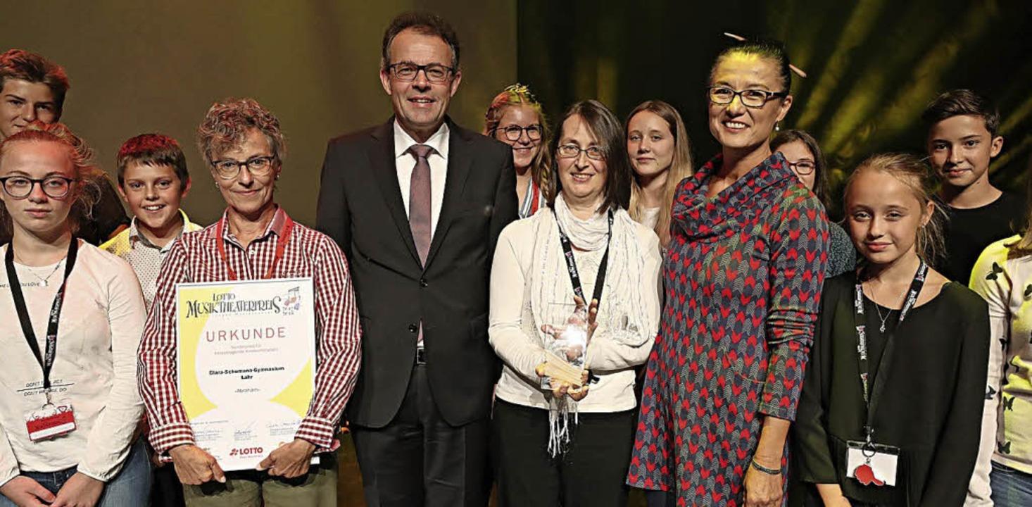 <BZ-FotoAnlauf>CSG Lahr:</BZ-FotoAnlauf> Die Preisträger des Theaterwettbewerbs   | Foto: Schule