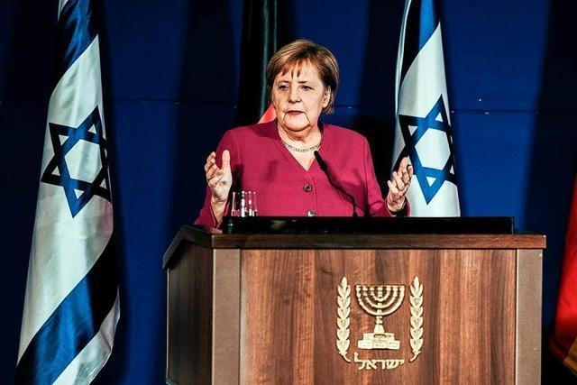 Merkel steht weiter fest an Israels Seite