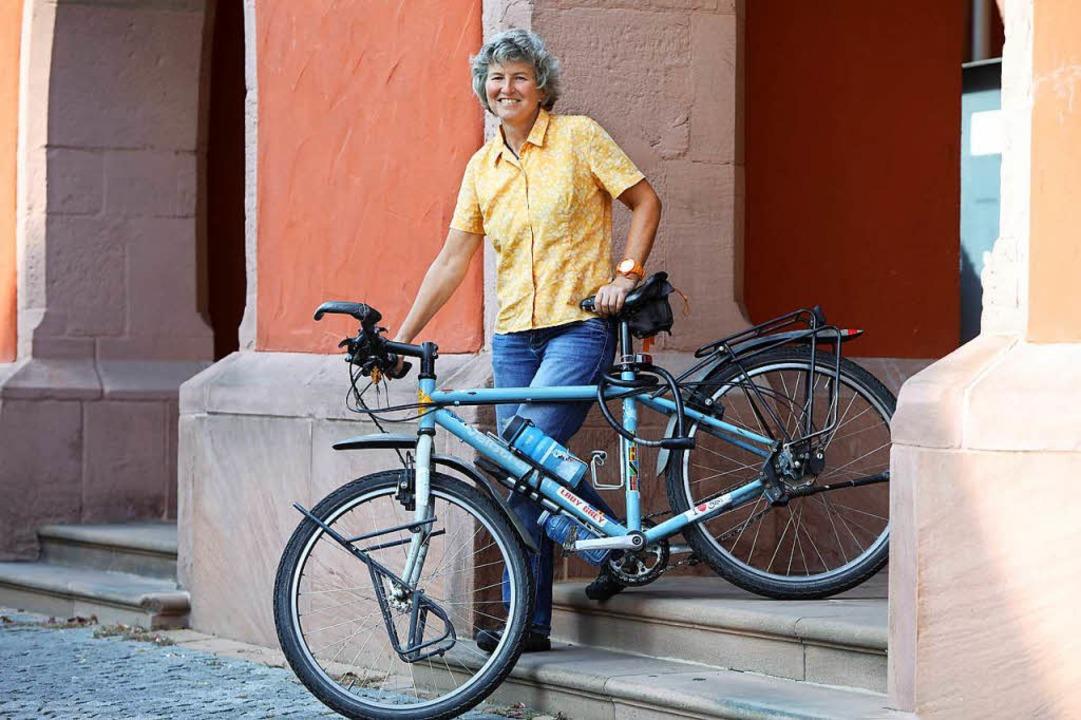 Ein Leben ohne Rad ist nicht vorstellbar: Dorothee Fleck  | Foto: Christoph Breithaupt