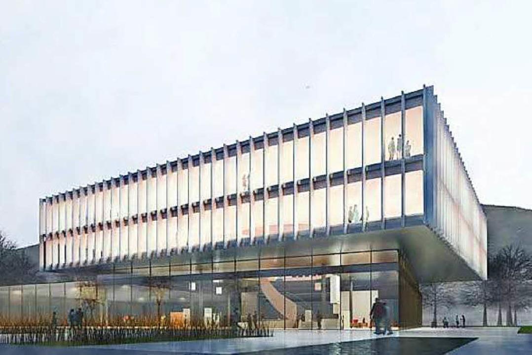 Der Entwurf für das neue Zehnder-Gebäude am Lahrer Firmensitz  | Foto: Partner AG