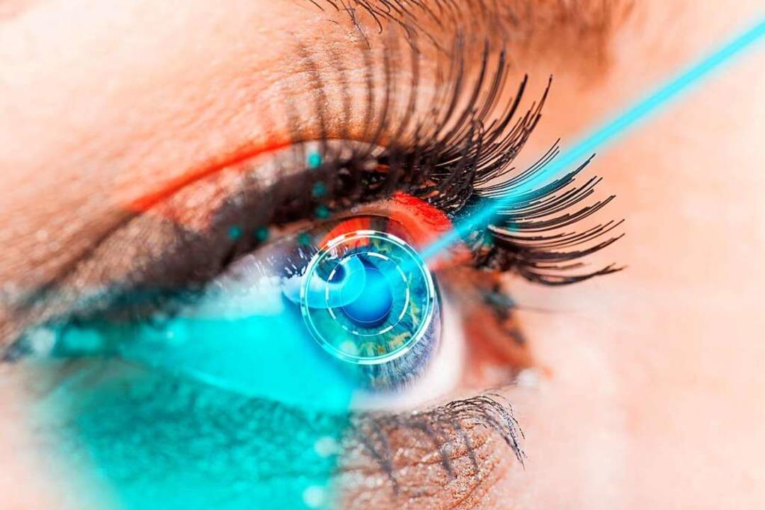 Augenbehandlung mittels eines Laserstrahls    Foto: Lukas Gojda