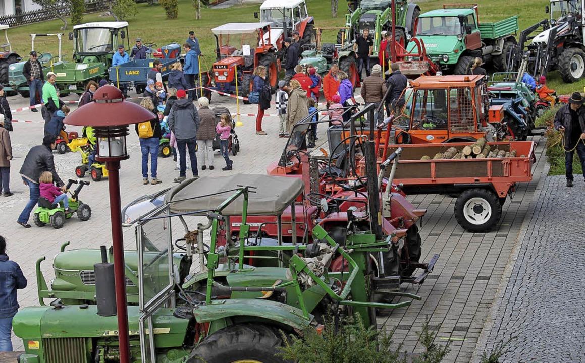 Kleine Traktoren hatten sich neben Old...trachtet von Kindern wie Erwachsenen.     Foto: Cornelia Liebwein