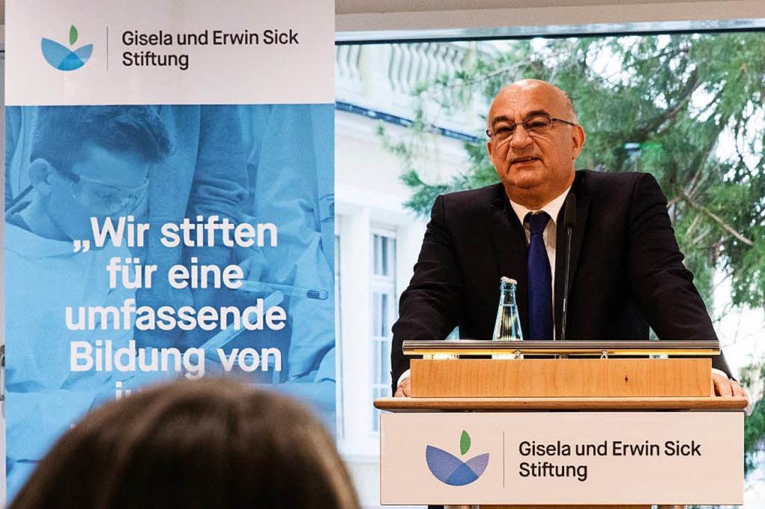 Impressionen von der Eröffnung des Dr.... Bauer, Vorstandsvorsitzender Sick AG.    Foto: Gabriele Zahn