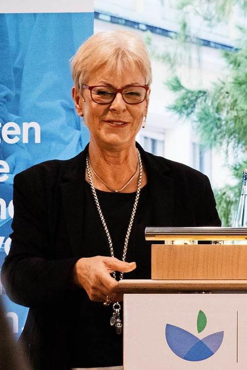 Impressionen von der Eröffnung des Dr....rforschungshauses. Renate Sick-Glaser.  | Foto: Gabriele Zahn