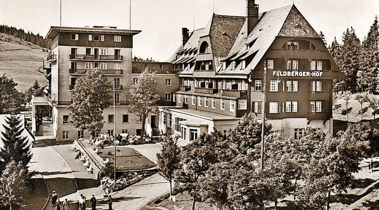 Das Hotel Feldberger Hof nach dem im Jahr 1936 erfolgten Anbau.   | Foto: Privat
