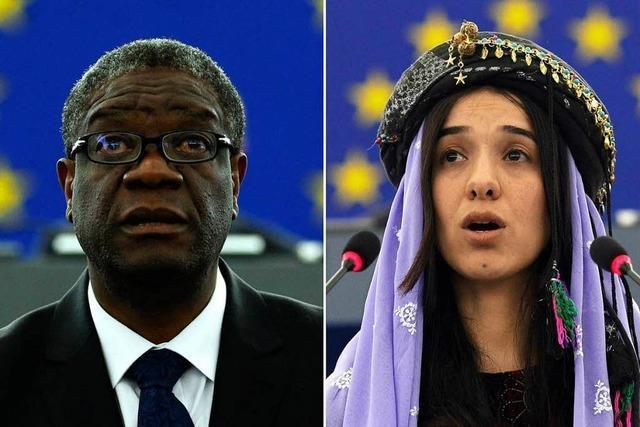 Der Friedensnobelpreis macht den Opfern Mut