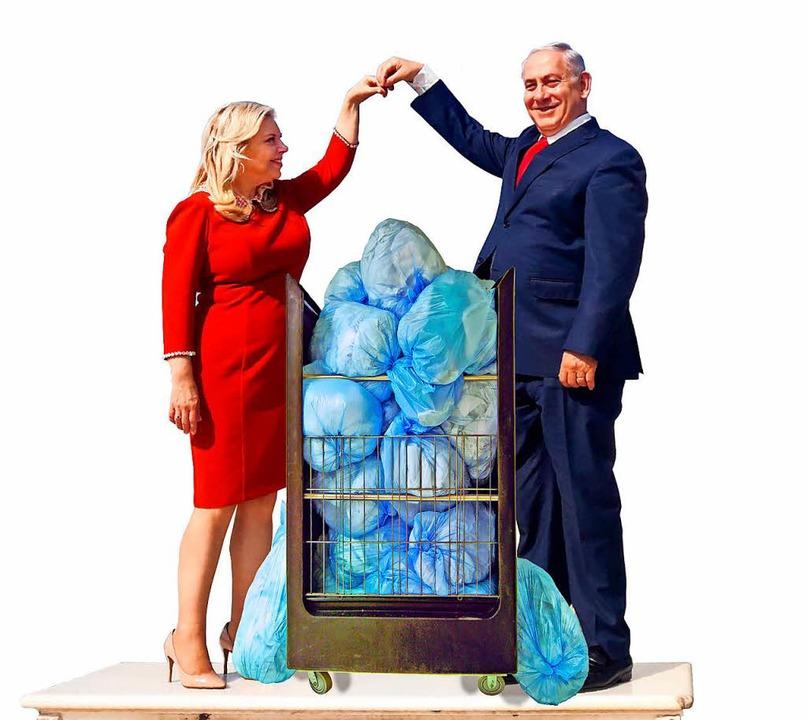 Sara und ihr  Gatte  Benjamin Netanjahu: Probleme mit der Wäsche  | Foto: STR
