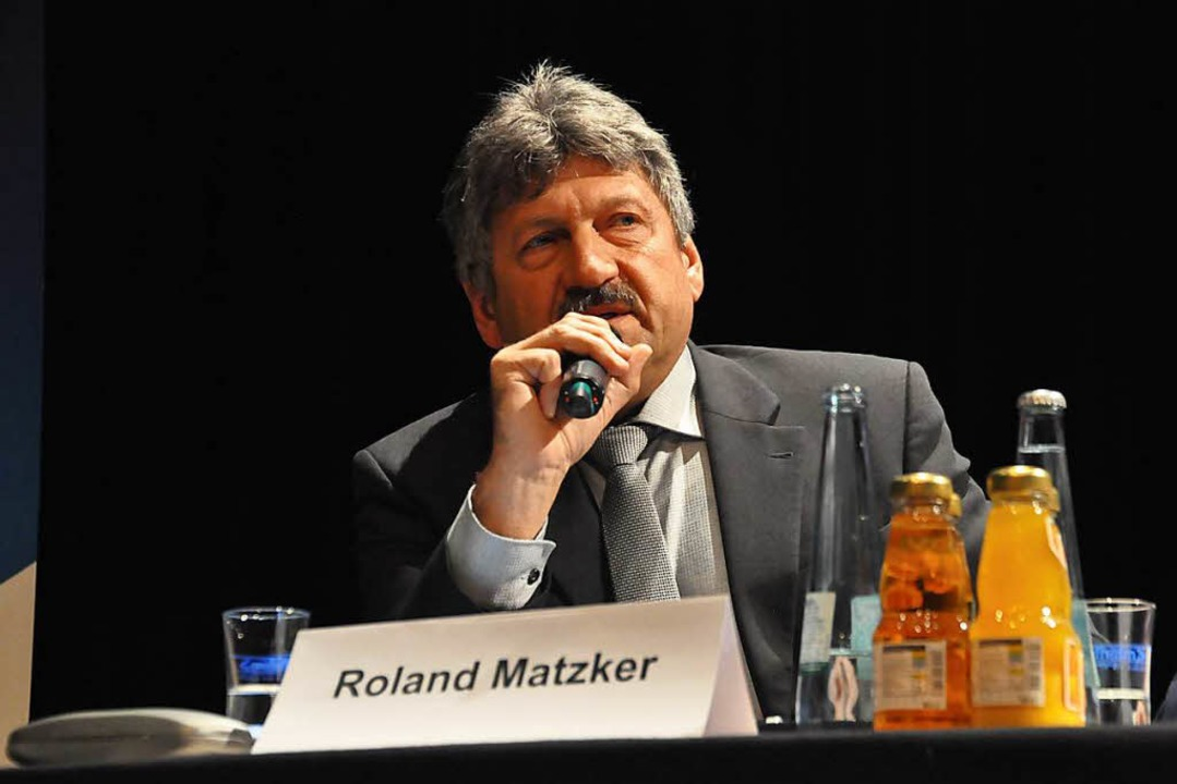 Roland Matzker bei der Kandidatenvorstellung  | Foto: Nicolai Kapitz