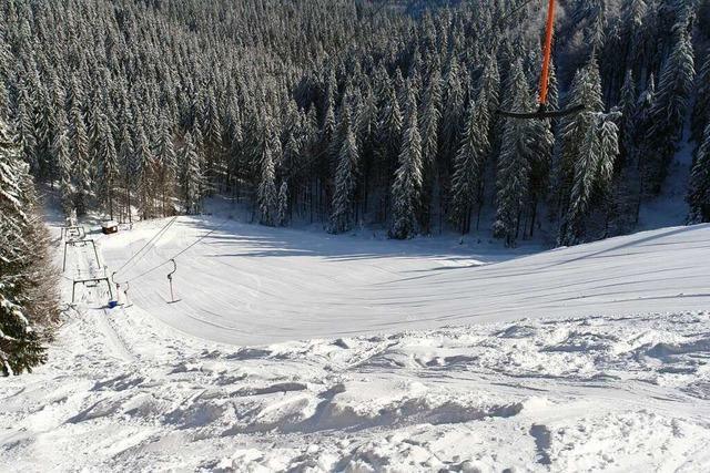Der Schwarzmooslift am Kandel ist kurz, knackig und steil