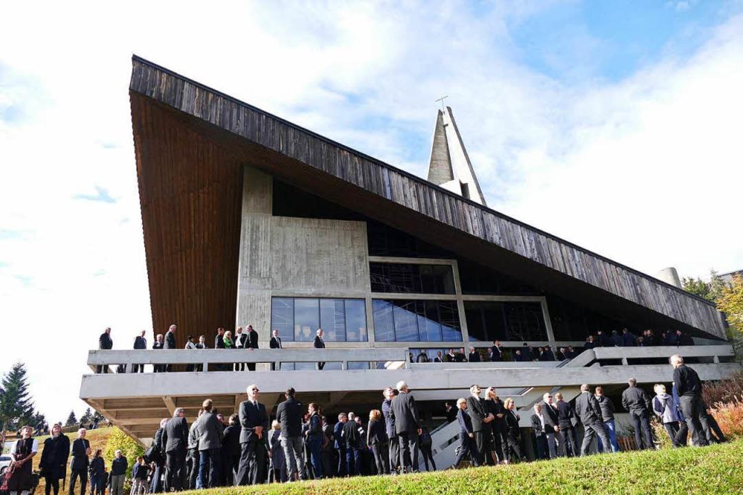 Der Trauergottesdienst für Stefan Wirbser fand in der Feldbergkirche statt.  | Foto: Tanja Bury
