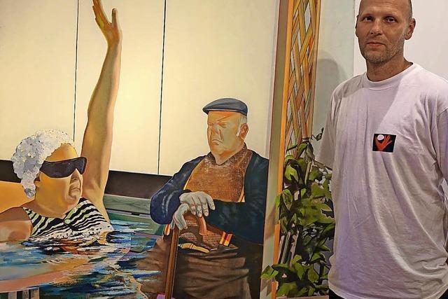Besucher werden zu Kunstwerken