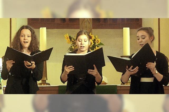 Junge Gesangstalente begeistern