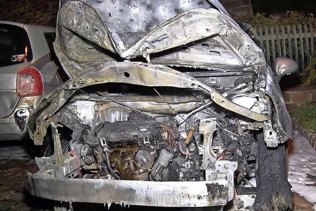 In Mahlberg brennt wieder ein Auto