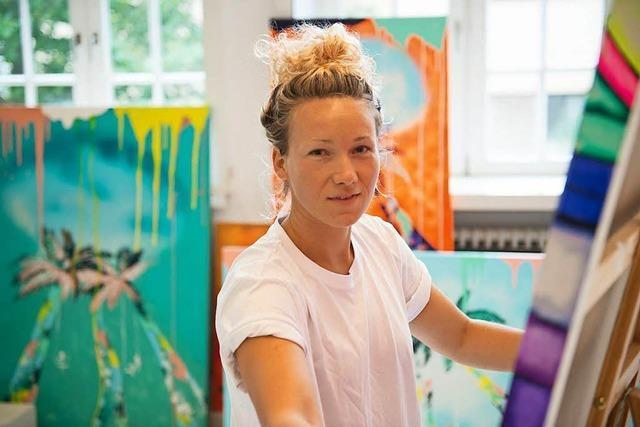 Ex-Fußball-Nationalspielerin Josephine Henning ist jetzt Malerin
