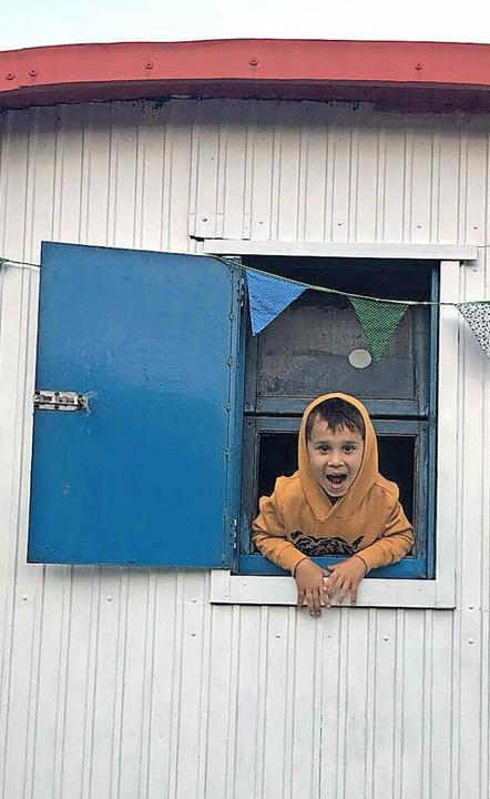 Dieser  Junge hat sichtlich Spaß  bei den BauwagenKids   | Foto: Spieldorf Herten