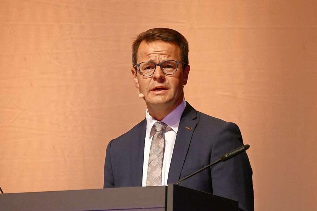 OB-Wahl Offenburg Kandidatenvorstellung in der Oberrheinhalle: Marco Steffens  | Foto: Helmut Seller