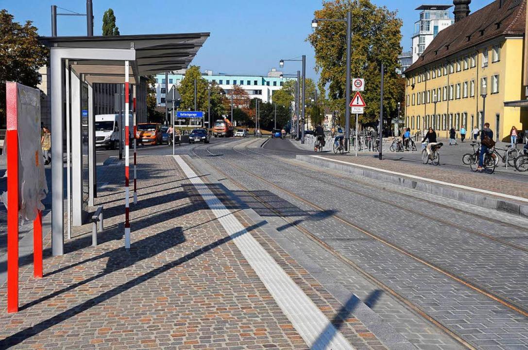 Die Haltestelle beim Stadttheater ist barrierefrei.  | Foto: Thomas Kunz