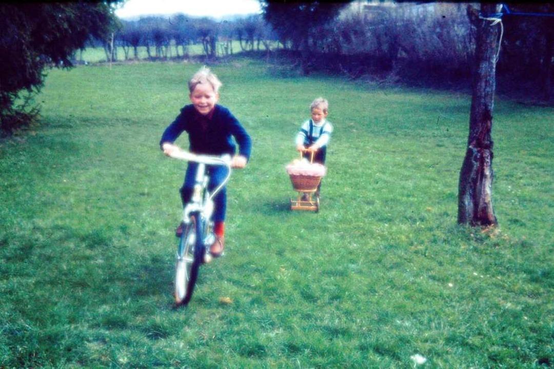 Harald Raus Liebe zum Fahrrad begann mit seinen Zweirad-Jagden durch das  Grün.  | Foto: privat