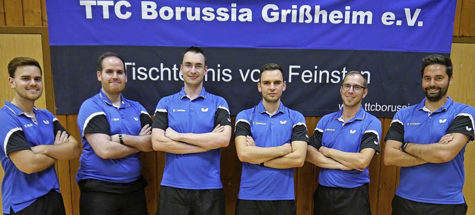 Die erste Mannschaft des TTC Borussia ...nsgeschichte in der Landesliga startet    Foto: TTC Grissheim