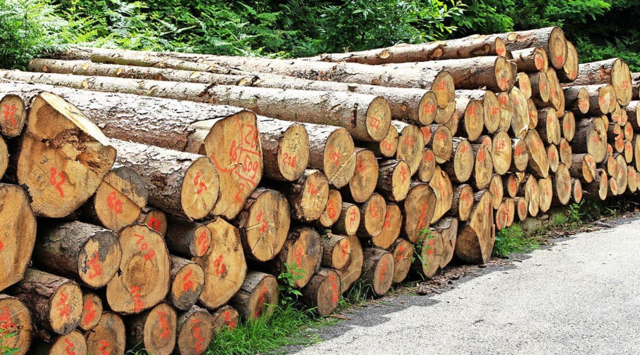 Für Industrieholz aus dem Schuttertal gibt es keine Absatzprobleme.     Foto: R. Beschorner