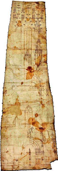 Der bislang unbekannte Riss stammt aus dem 15., Jahrhundert (Ausschnitt)  | Foto: Axel Killian