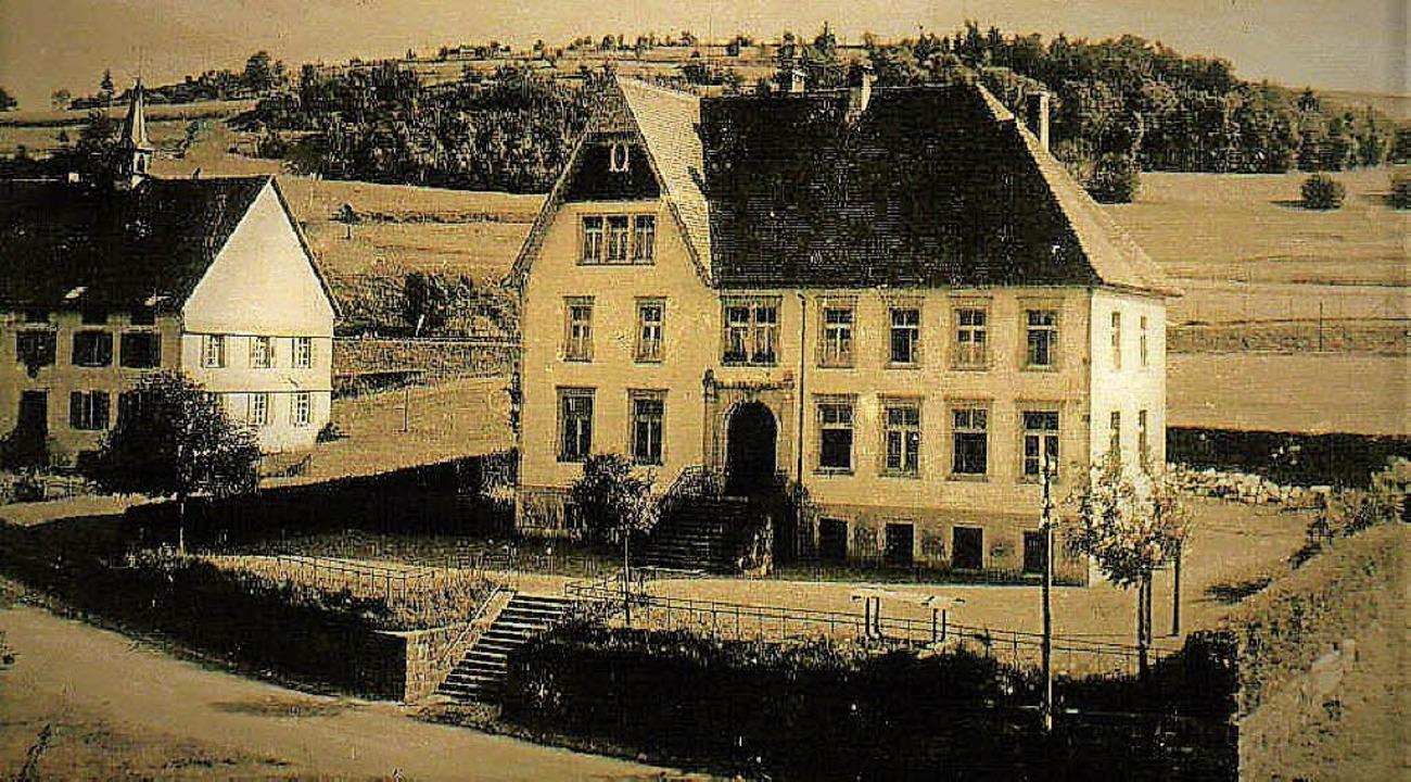 Direkt nebeneinander standen in Unterl...s) und die bis 1935 bestehende Schule.  | Foto: Archiv Haderer