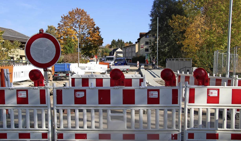 Nächste Woche wird auf der Schaffhause...Ausfallstraße endlich Geschichte sein.    Foto: Ann-Kathrin Moritz