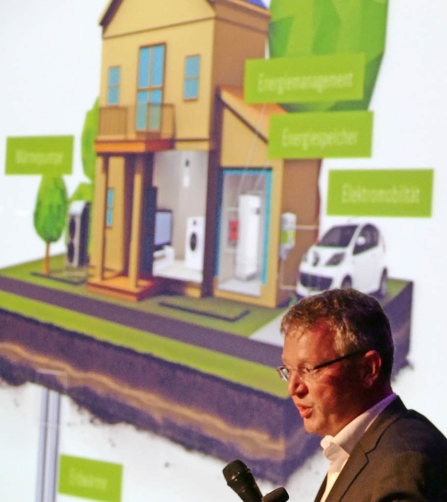 Referent Klaus Nerz zeigt smarte Lösungen im Kleinen.   | Foto: R. Dorweiler