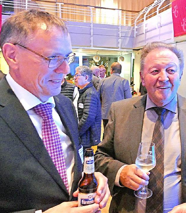 André Marker und Paul Renz im Gespräch  | Foto: Ralf H. Dorweiler