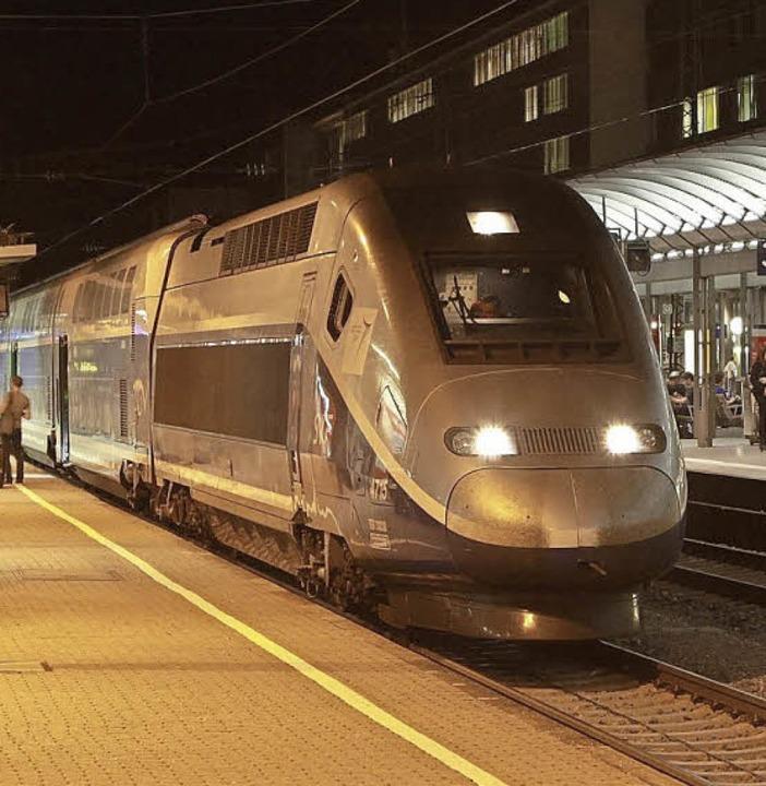 Der TGV hält bald in Lahr     Foto: NVBW