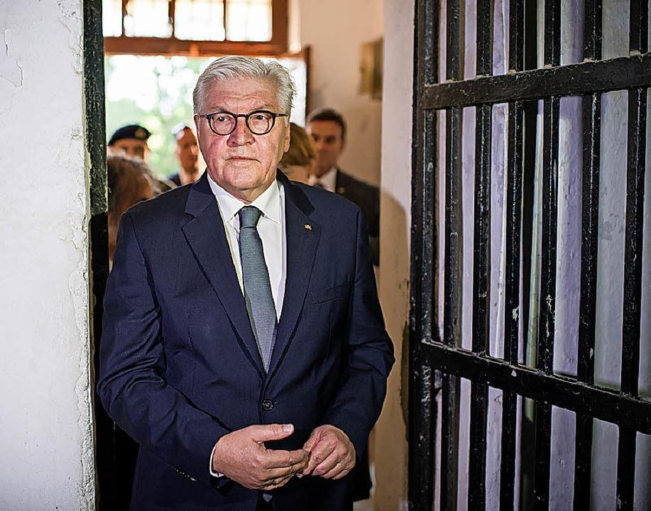 Frank-Walter Steinmeier in Chaidari   | Foto: DPA