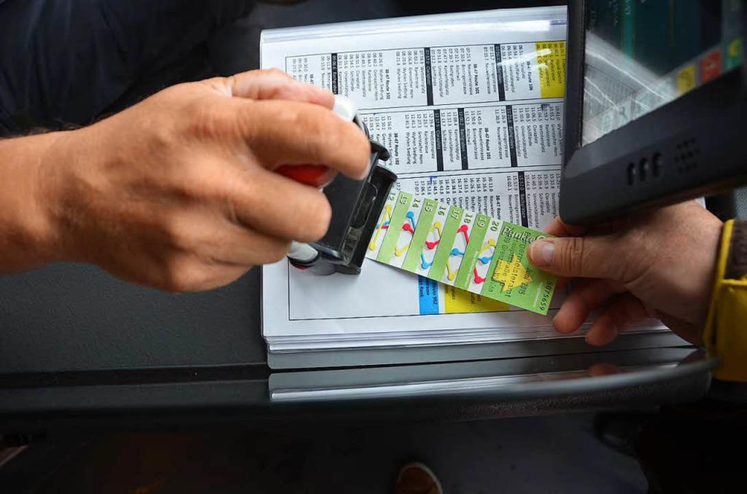 Noch sind die Punktekarten in der Linie 38 gültig.  | Foto: Peter Gerigk