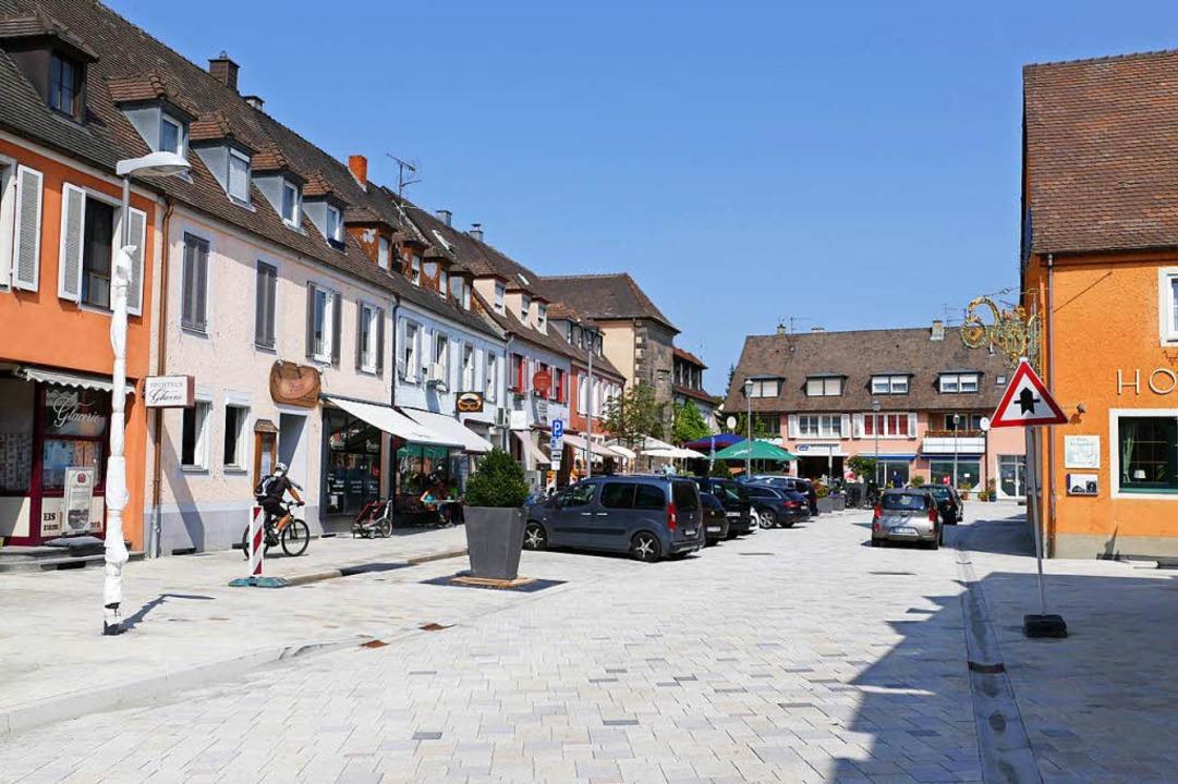 Blick vom Marktplatz in den neugestalteten Bereich  | Foto: Agnes Pohrt